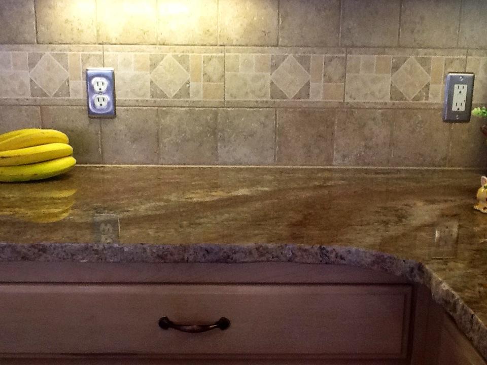 stone solutions granite crema bordeaux granite with tile backsplash