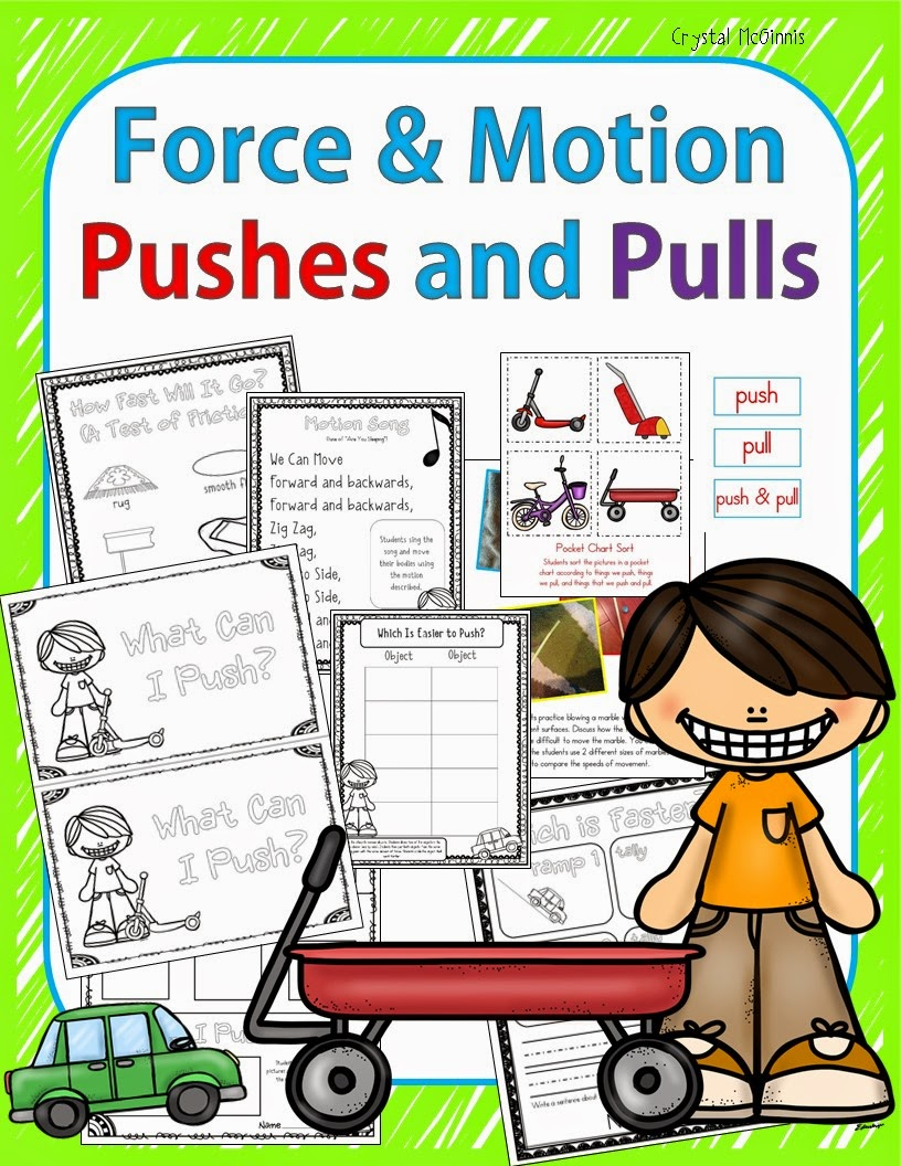force motion A force is a push or pull forces can make things move faster, slower, stop, or change direction different forces (including magnetism, gravity, and friction) can affect motion.