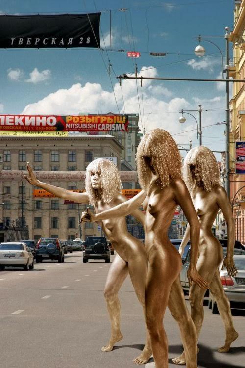 Dmitry Puzyrev fotografia mulheres nuas artísticas manequins peladas na cidade