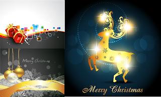 クリスマスを表現した3種類の背景 3 christmas vector イラスト素材