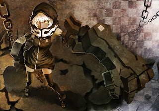 Black Rock Shooter Strength Anime Girl Hood Chain Big Knuckle HD Wallpaper Desktop Background