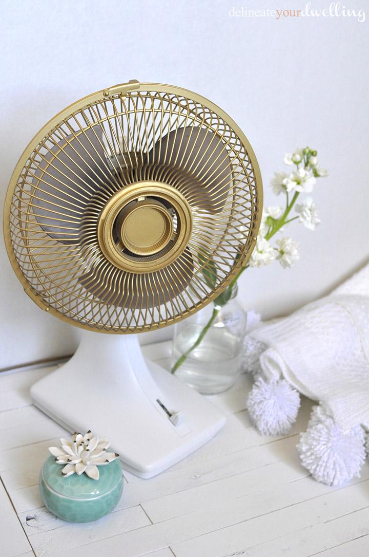 Updated Old Fan, Delineate Your Dwelling #gold #fan #update