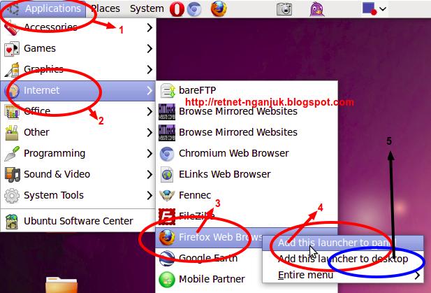 cara membuat shortcut di desktop ubuntu