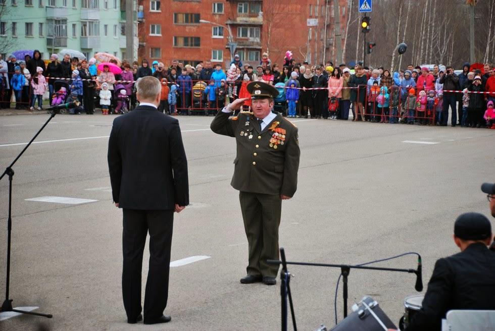 Парад 9 мая 2014 в Лысьве