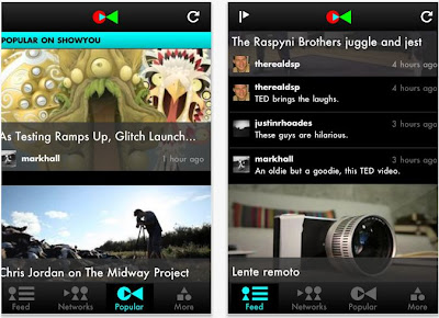 Social video app for iPad