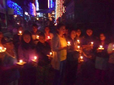Bijanbari Bazar witnessed a mournful start to Diwali.