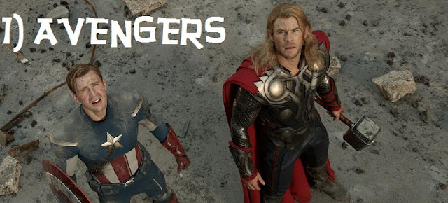 Avengers Captain American and Thor