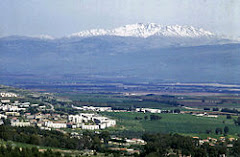 The Hula Valley and mount Hermon