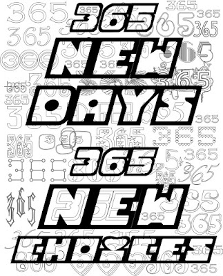 365 new days, 365 new choices adult coloring page, free, stafanie girard designs