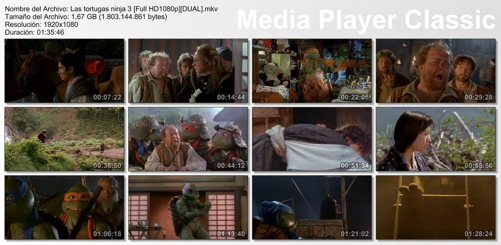 Tortugas Ninja 3 HD Dual Lat-ing sub (SF)