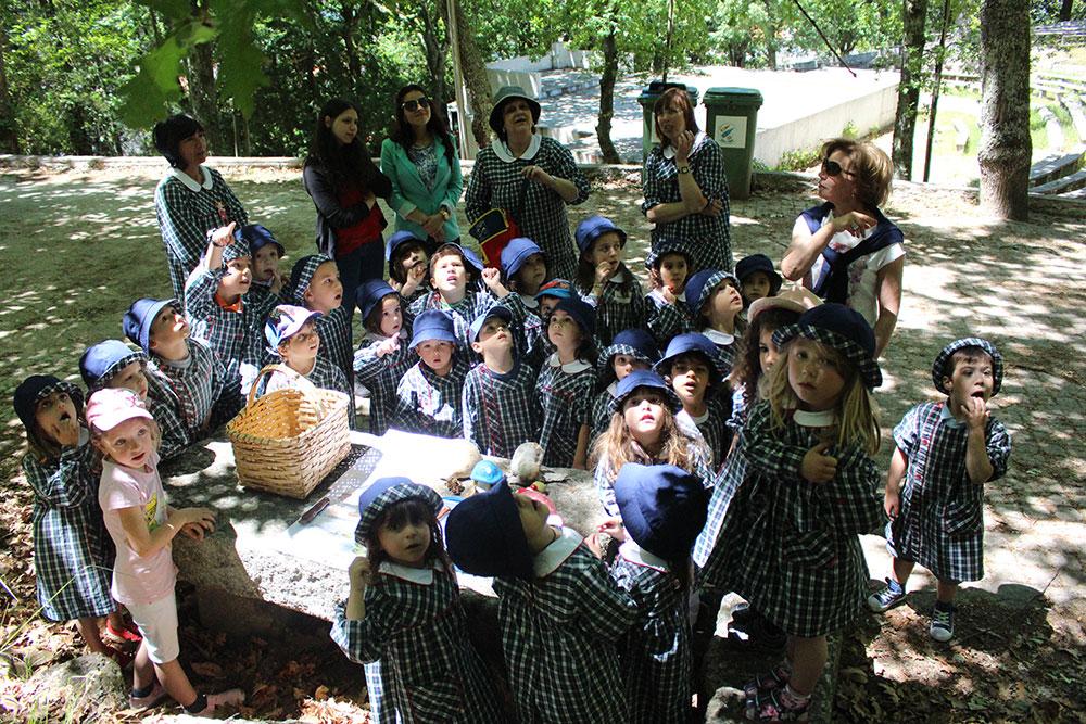 """cerca para jardim de infancia: silvestres"""" com o Jardim de Infância de Gouveia na Mata da Cerca"""