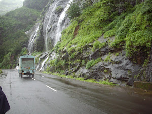 """MONSOON WATERFALLS"" throughout the route to Malshej Ghat Plateau.(Saturday 27-8-2011)."