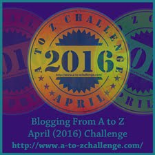 Participant in the 2016 Blogging from A to Z Challenge