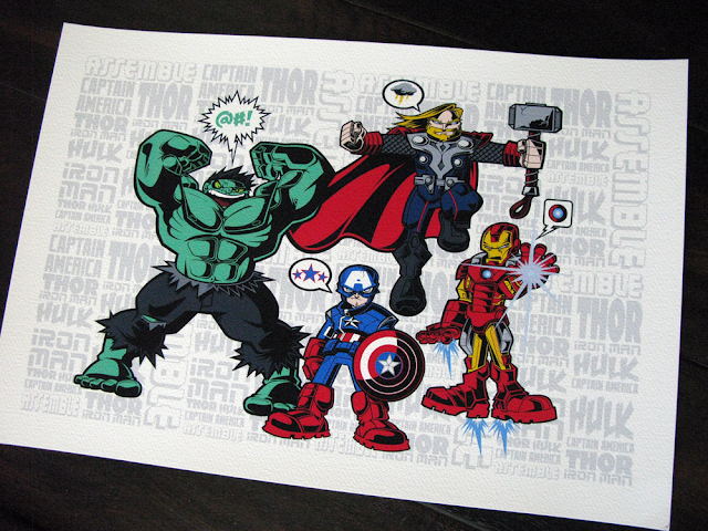 The Avengers Movie Print &#8220;Assemble&#8221; by Tracy Tubera