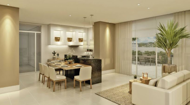 Sala De Jantar Bege E Branca ~  Minha Casa Clean Ambientes com Bege!!! Super aconchegantes