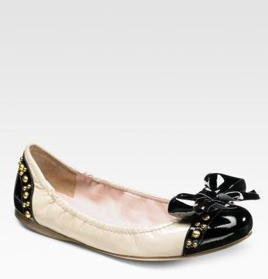 ballet flats with ribbon. Beige suede ballerina flats