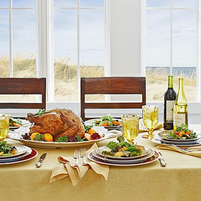 Seaside Thanksgiving feast menu from Coastal Living