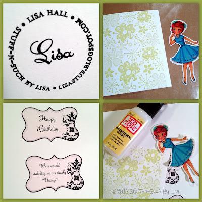 Vintage Girl Birthday Card Collage
