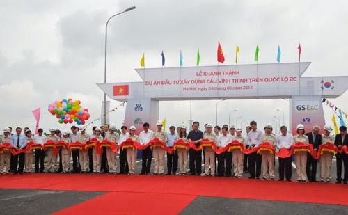 Khánh thành cầu Vĩnh Thịnh - Sơn Tây (Hà Nội)