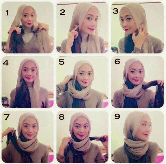 Différentes façons de mettre le hijab
