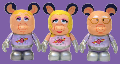 The Muppets Disney Vinylmation Series 2 - Pigs In Space Captain Link Hogthrob, First Mate Piggy & Dr. Strangepork 3 Inch Vinyl Figures