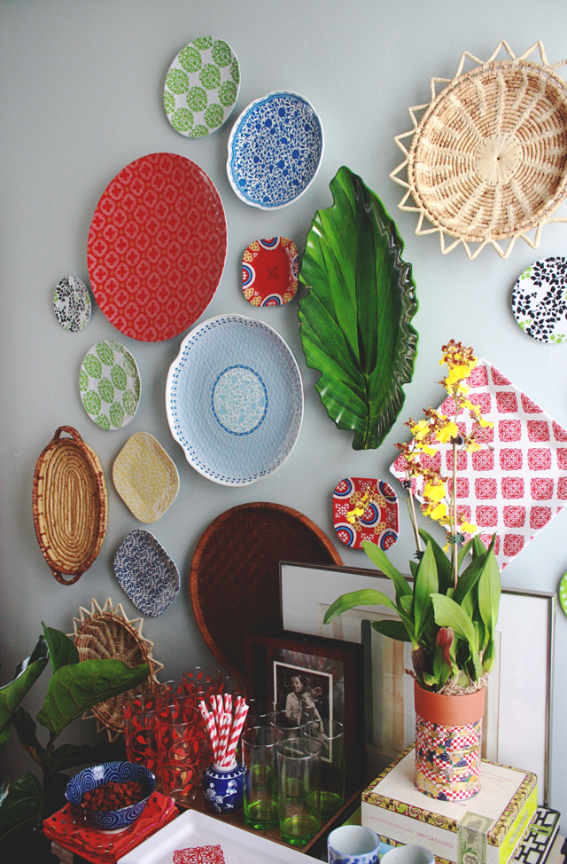 Cute Okay now let us talk about plate walls for a sec Plate walls are awesome but if you have ever tried to hang one you know they can get out of hand in