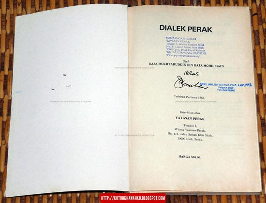 Dialek Bahasa Negeri Perak