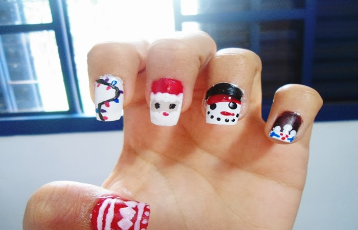 nail art, natal, christmas nail, unhas de natal, papai noel, luzes de natal, pisca pisca, boneco de neve, coat, lirisando, blog, arte