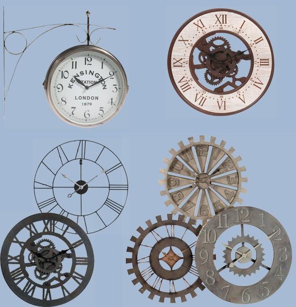 Dismueblesdeco industrial for Reloj pared estilo industrial