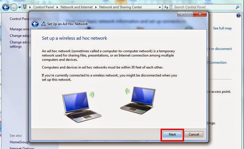 setup+a+hoc+network - Cara Menciptakan Wireless Lan Di Windows