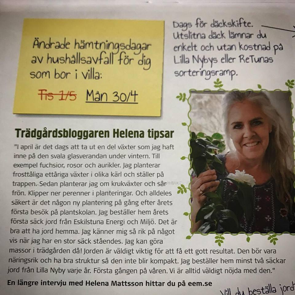 I Eskilstuna Energi & Miljö almanacka 2018