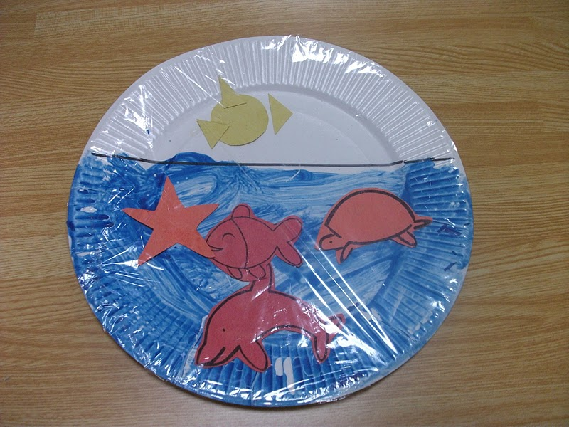 Craft Ideas For Kids Under 5 Part - 37: Here Is A Simple Sea Life Craft That Gives The Impression Of Being Under  Water Or Looking Through A Window.