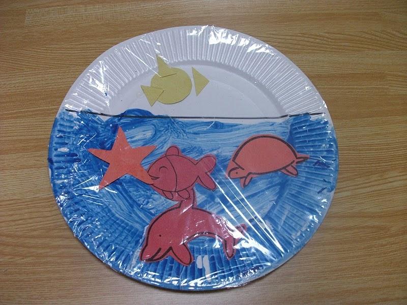 Preschool crafts for kids easy sea life paper plate craft for Quick crafts for preschoolers