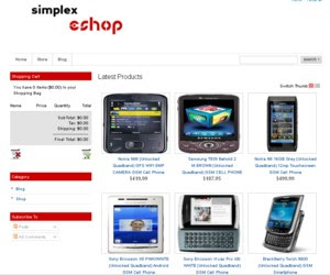 SimplexEshop Blogger Template