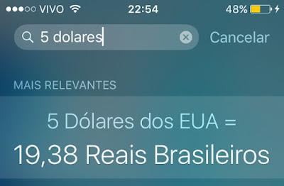 Conversão de moeda - Siri