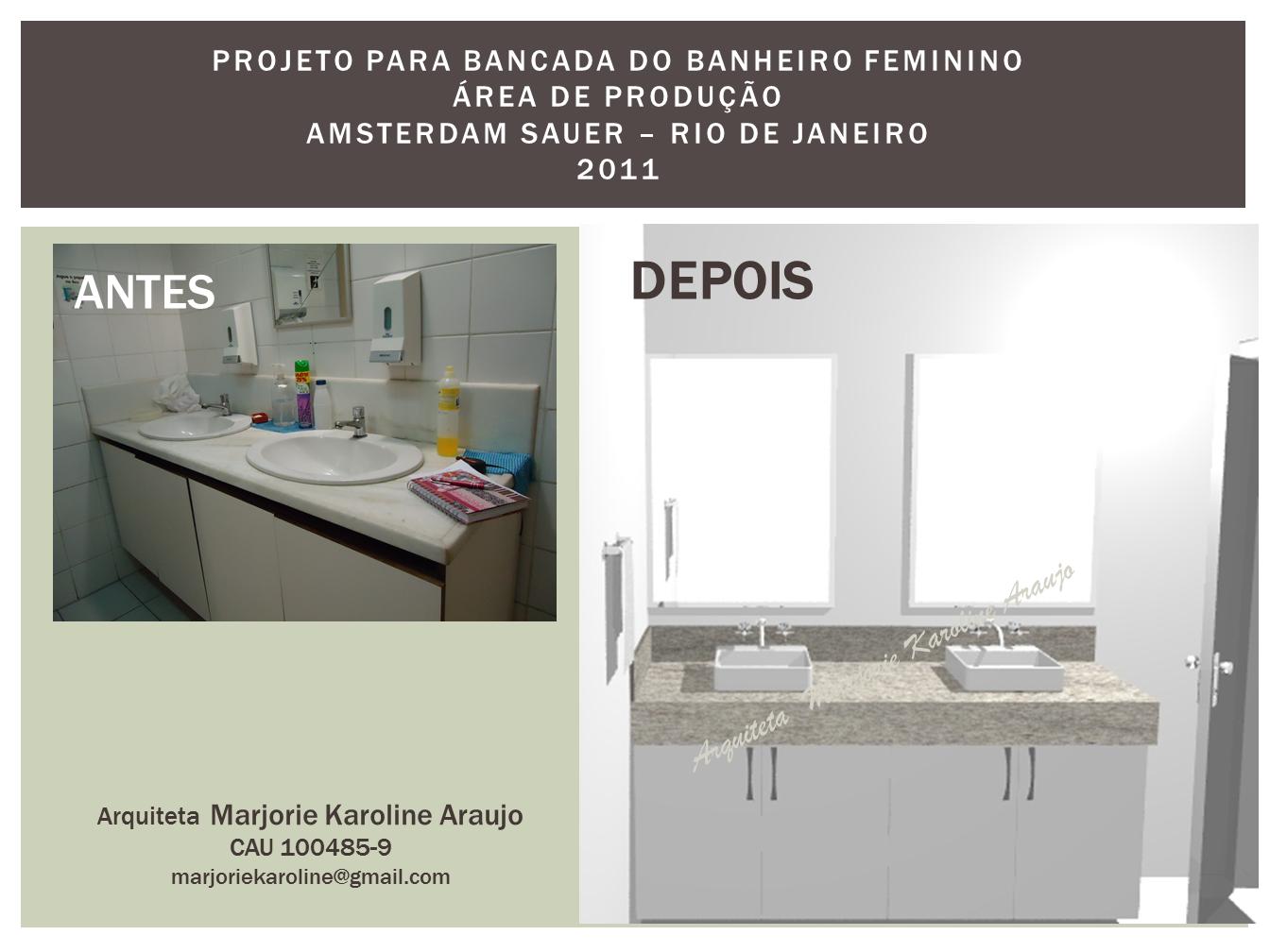construção: Projeto Banheiro Feminino Amsterdam Sauer #3F6573 1344 1008