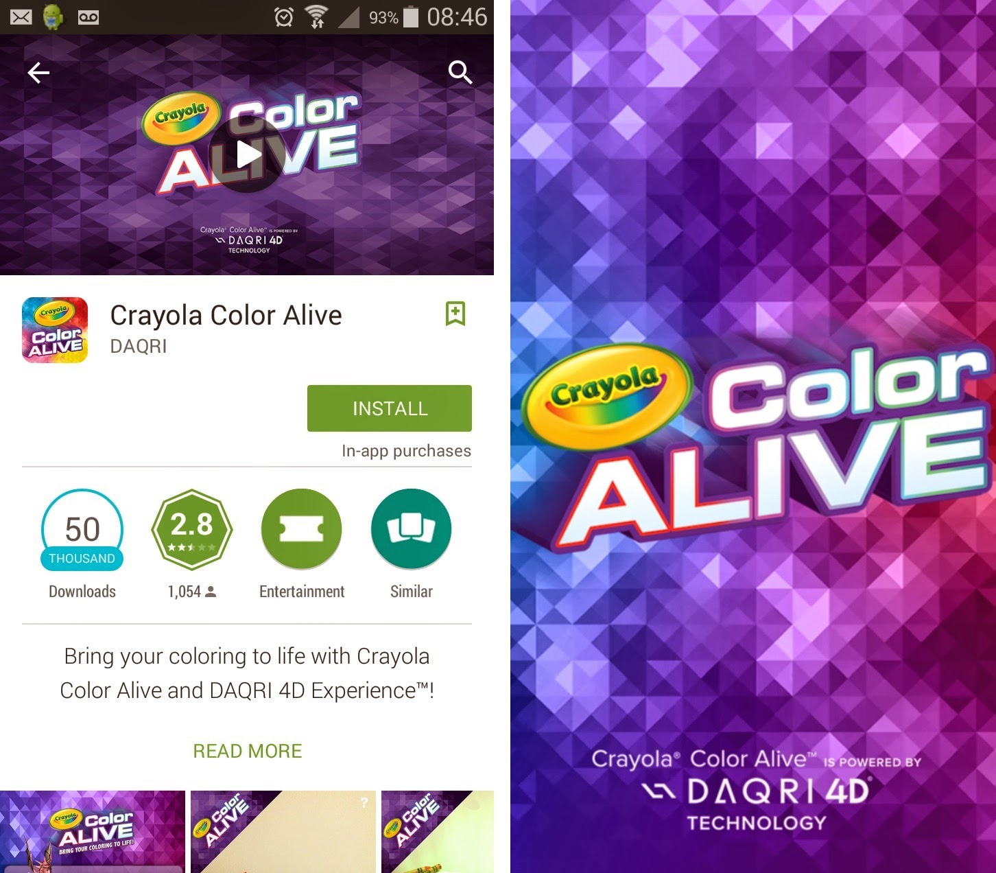 Crayola Color Alive, 4D colouring book, Virtual Reality for children