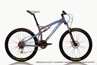 Sepeda Gunung United FX77 (4) Command Full Suspension  24 Speed + Rangka Aloi 26 Inci