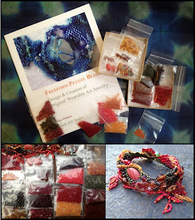 Freeform Peyote Beading Book and Kit; includes all the beads I used for my Autumn Rain bracelet