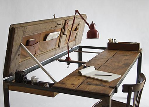 Arte y arquitectura mesas con puertas recicladas - Mesa de arquitecto ...