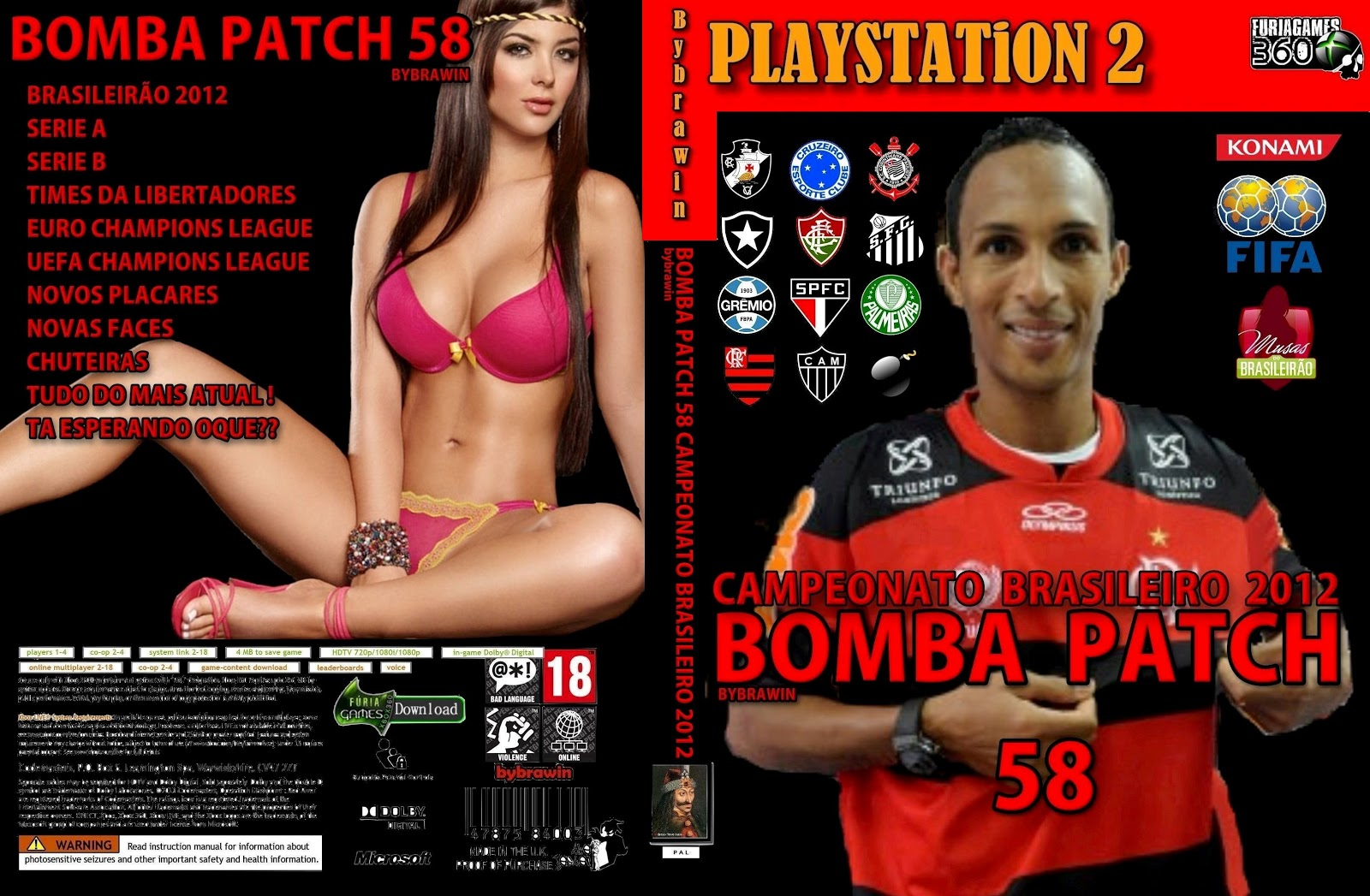 Winning Eleven 10 - Bomba Patch 58 - PS2
