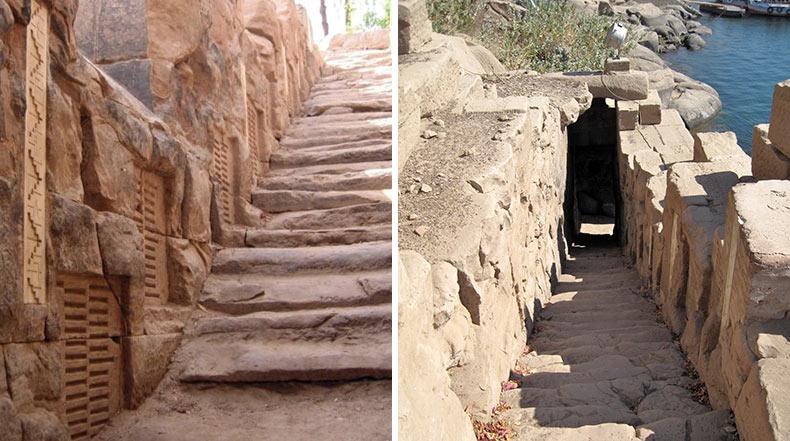 El Nilometro: Una antigua estructura utilizada para medir el nivel del río Nilo