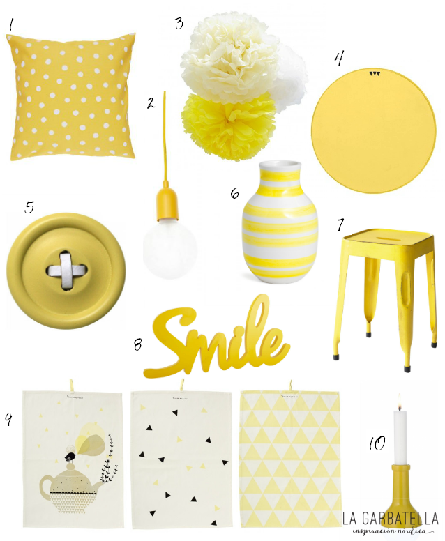 accesorios decoración amarillo