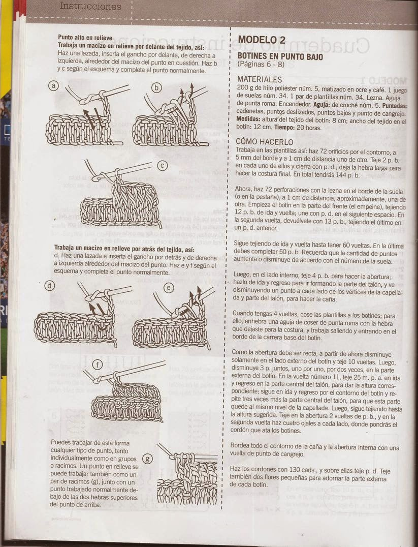Atractivo Patrón Para Botas De Ganchillo Ilustración - Ideas de ...