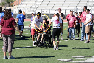 Special Education student participating in the Sports Challenge