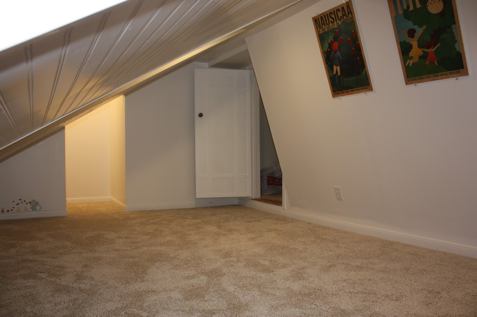 The Door To Right Comes In Through A Walk Closet Of One Boys Bedrooms Slanted Entrance Is Where Climbing Platforms From First