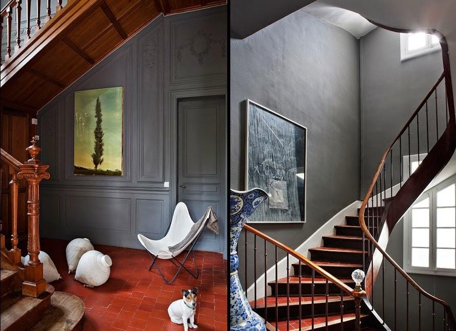 Noir blanc un style - Escalier peint en gris et blanc ...
