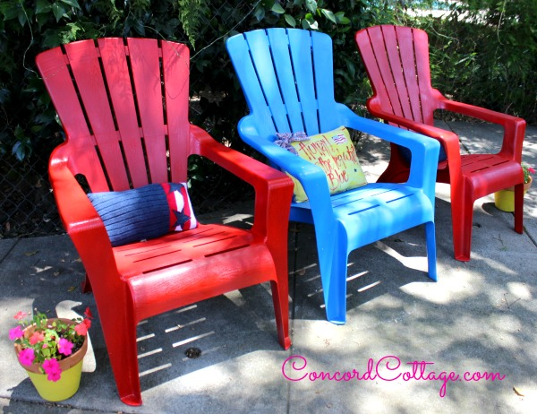 Red Patio Chair evey's creations: 5+ diy red accent furniture pieces