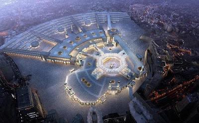 Keindahan Kota Mekkah dari angkasa
