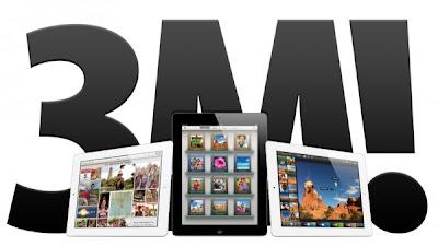 Apple anunciou hoje que vendeu três milhões de novos iPads